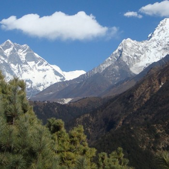 Mt. Everest Top and Mt. Ama Dablam Views from Sanasa