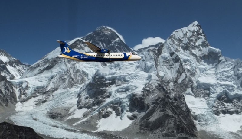 Mountain Flight in Nepal Over the Himalayas Banner Image